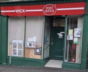 Photograph of Wick Post Office - now transferred to Bridge Street