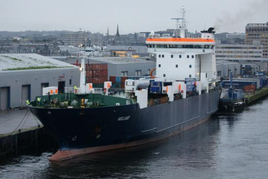 Photograph of MV Helliar Replacing MV Hamnavoe 13th  - 26th January