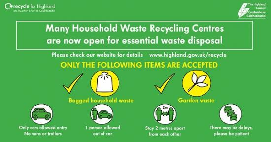 Photograph of Public Praised As 14 Highland Household Waste And Recycling Centres Successfully Reopen