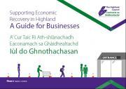 Thumbnail for article : Council launches Business Guide to support economic recovery in Highland