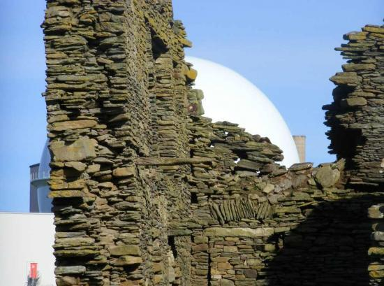 Photograph of Structural Survey On Dounreay Castle As Deterioration Noted