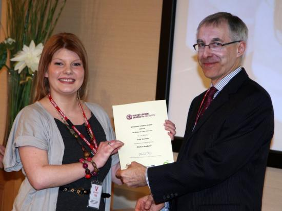 Photograph of Caithness Girl Receives BP Student Tutoring Award