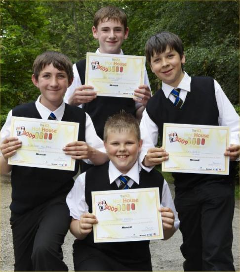 Photograph of Young Wick Team's Technology Project Wins Them Trip To USA