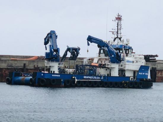 Photograph of Latest Boats At Gills Harbour For Work At Meygen