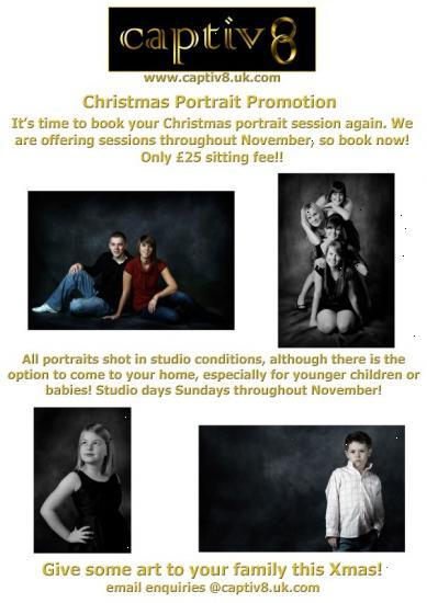 Photograph of Christmas Portrait Shoots from Captiv8 Photography!