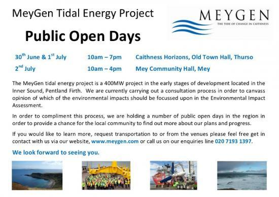 Photograph of MeyGen Tidal Energy Project Public Open Days