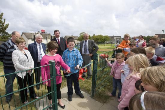 Photograph of Children Cap Fund-raising By Opening Thurso Playpark