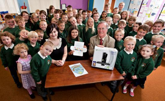 Photograph of Keiss Primary Get Prizes From New Community Benefit Fund