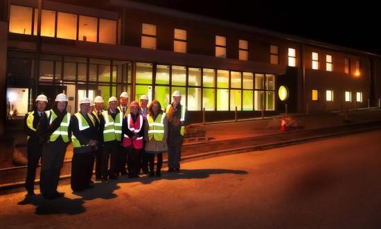 Photograph of HIE Board Checks Out Wick's New Community Centre
