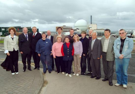Photograph of Norwegian And Russian Visitors At Dounreay