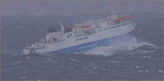 Photograph of MV Hamnavoe Took Short Crossing In Severe Weather
