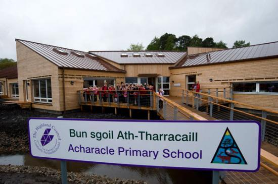 Photograph of Official Opening of Acharacle Primary School