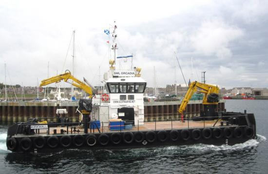 Photograph of Gills Harbour Focus For Marine Support Vessel