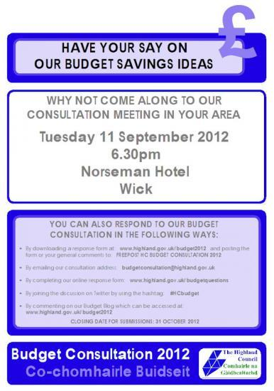 Photograph of Budget Consultation At Wick