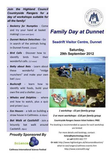 Photograph of Family activity day at Dunnet's Seadrift Visitor Centre