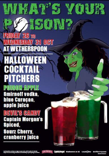 Photograph of Halloween Cocktails at Wetherspoon's In Wick