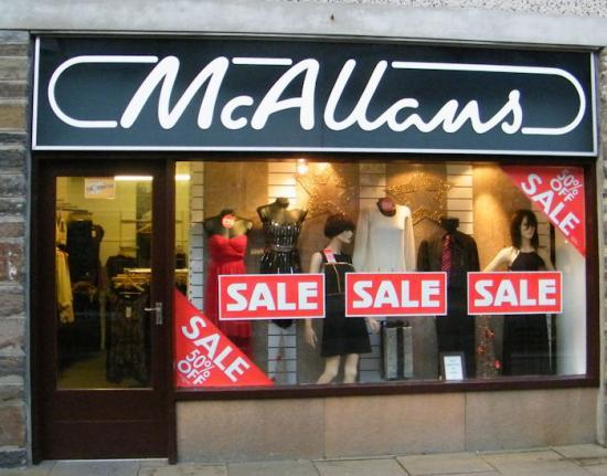 Photograph of McAllans Sale Now On