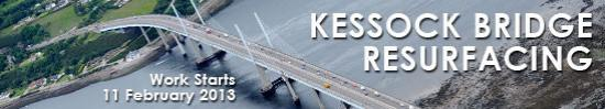 Photograph of Kessock Bridge Resurfacing - Starts 11 February 2013