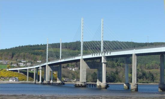 Photograph of A9 Kessock Bridge � Route changes in advance of Major Works