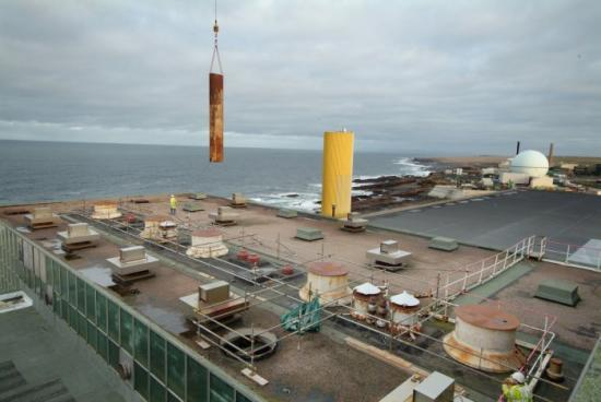 Photograph of Dounreay Prototype Fast Reactor Coming Apart