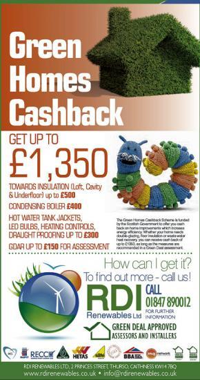 Photograph of Green Cash Back Available in Caithness