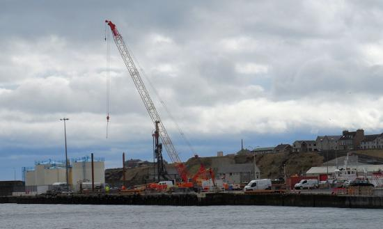Photograph of Heavy Lift Pad Construction  Underway At Wick Harbour