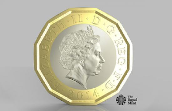 Photograph of New £1 coin announced