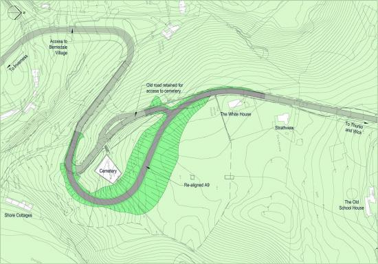 Photograph of Option Selected for A9 Berriedale Braes hairpin