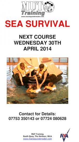 Photograph of Sea Survival Trainng Course - RYA FIRST AID