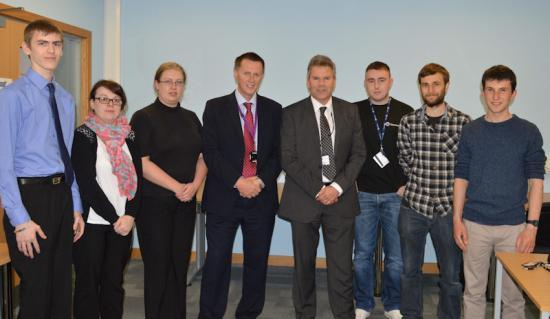 Photograph of NEW UHI Principal Meets Staff and Students At North Highland College
