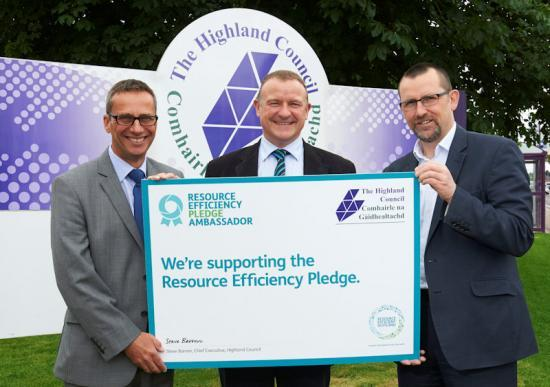 Photograph of The Highland Council lead the charge for resource efficiency in business