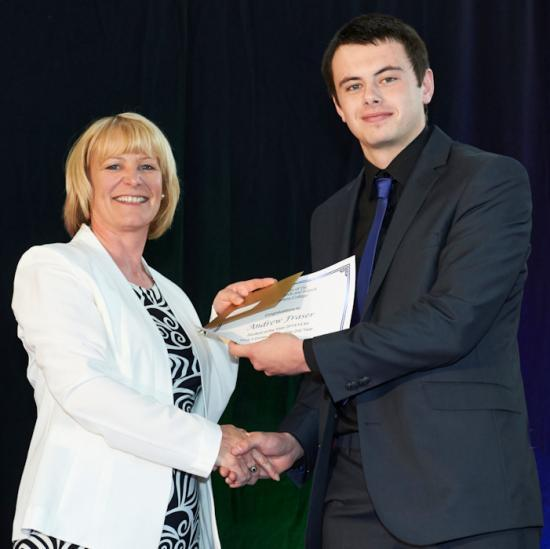 Photograph of Praise for top apprentice plumber