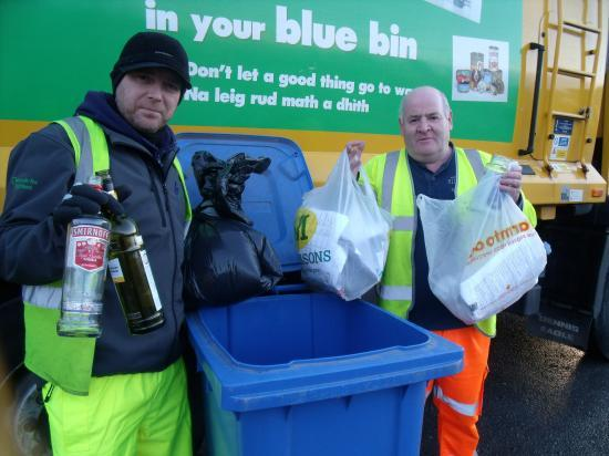Photograph of No bags in Blue Bins To Improve Recycling