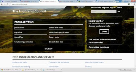 Photograph of Highland Council Website Review Reveals Positive Results