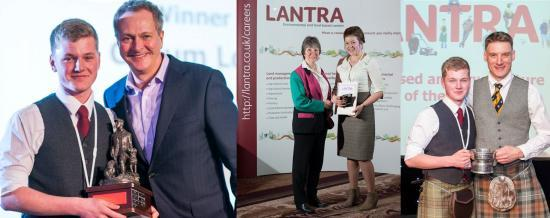 Photograph of College scoops overall winner at LANTRA awards