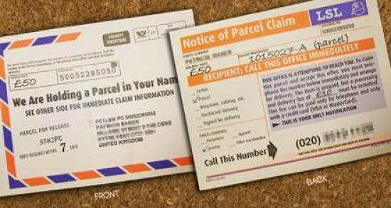 Photograph of Don't be duped by scam parcel postcards warns Highland Council Trading Standards