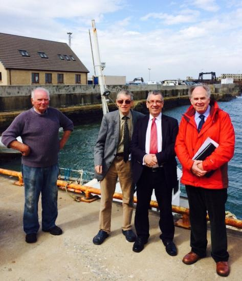 Photograph of David Stewart MSP Visits Gills Harbour