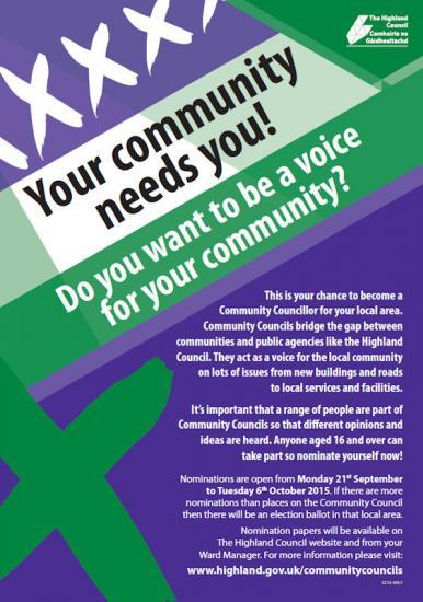Photograph of Your community needs you - Community Council Elections 2015