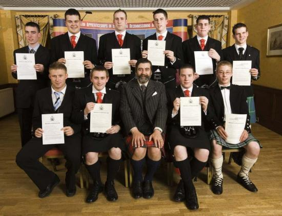 Photograph of Dounreay Apprentices Receive Their Certificates