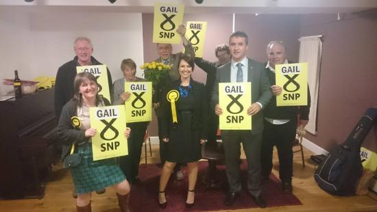 Photograph of Gail Ross Campaign For MSP Spreads Across The North