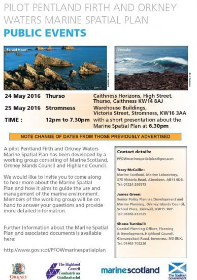 Photograph of Pentland Firth and Orkney Waters Marine Spatial Plan - Information Event