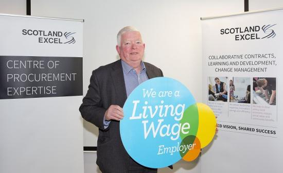 Photograph of Councillor Bill Fernie welcomes Scotland Excels Living Wage boost