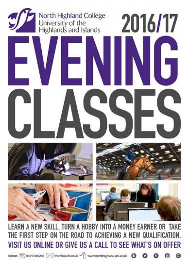 Photograph of North Highland College UHI Evening Classes 2016