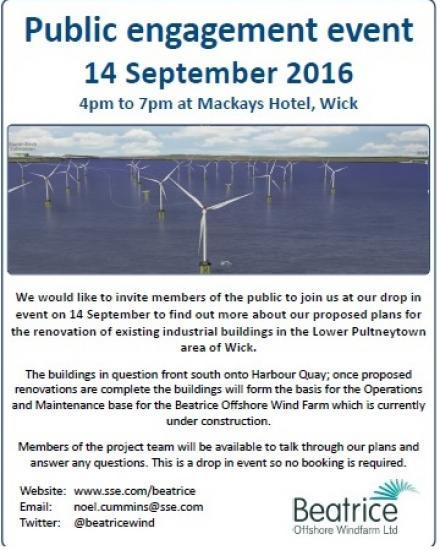 Photograph of Huge Changes For Wick Harbour - Public Event 14th September 2016