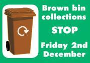 Thumbnail for article : Brown bin service stops for winter