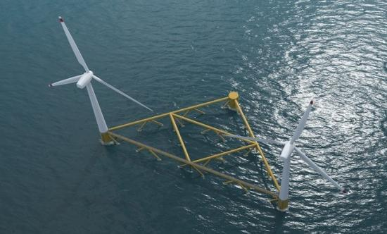 Photograph of Floating Wind Farms To The Fore
