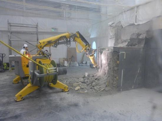 Photograph of Robot Demolition Taking More Of Dounreay Apart