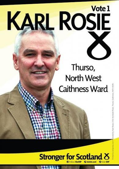 Photograph of Karl Rosie - Scottish National Party - Thurso & North West Caithness