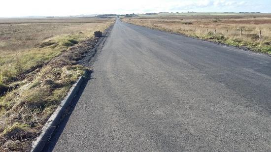Photograph of Praise for B876 Killimster Moss road refurbishment