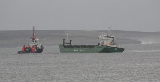 Photograph of Wick Lifeboat Aids Cargo Vessel Jomi
